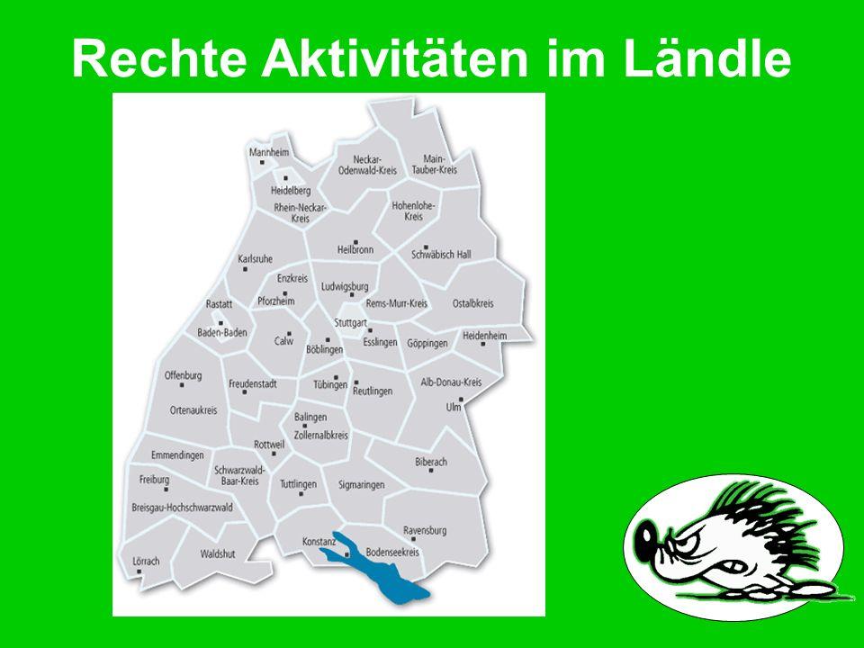 Rechte Aktivitäten im Ländle ff