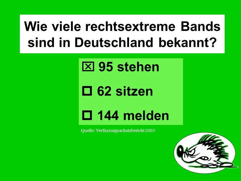 Wie viele rechtsextreme Bands sind in Deutschland bekannt.
