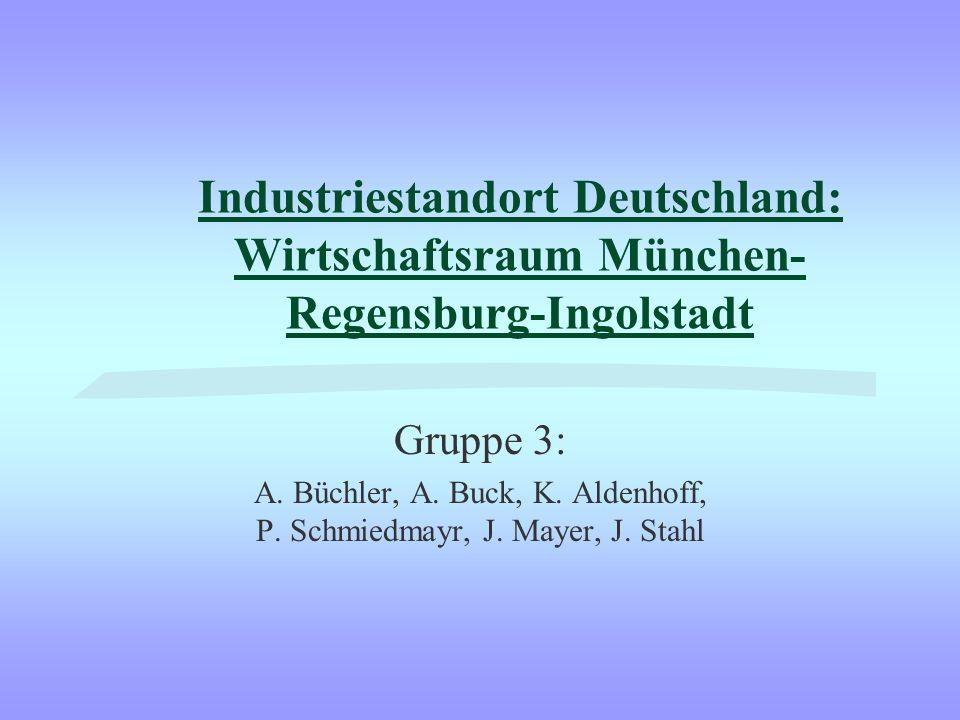 Industriestandort Deutschland: Wirtschaftsraum München- Regensburg-Ingolstadt Gruppe 3: A.