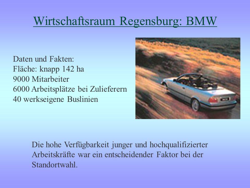 BMW Standortkriterien, die bei der Entscheidung von BMW ein Werk in Regensburg zu errichten, eine Rolle gespielt haben: Qualitative Kriterien: - Hohe