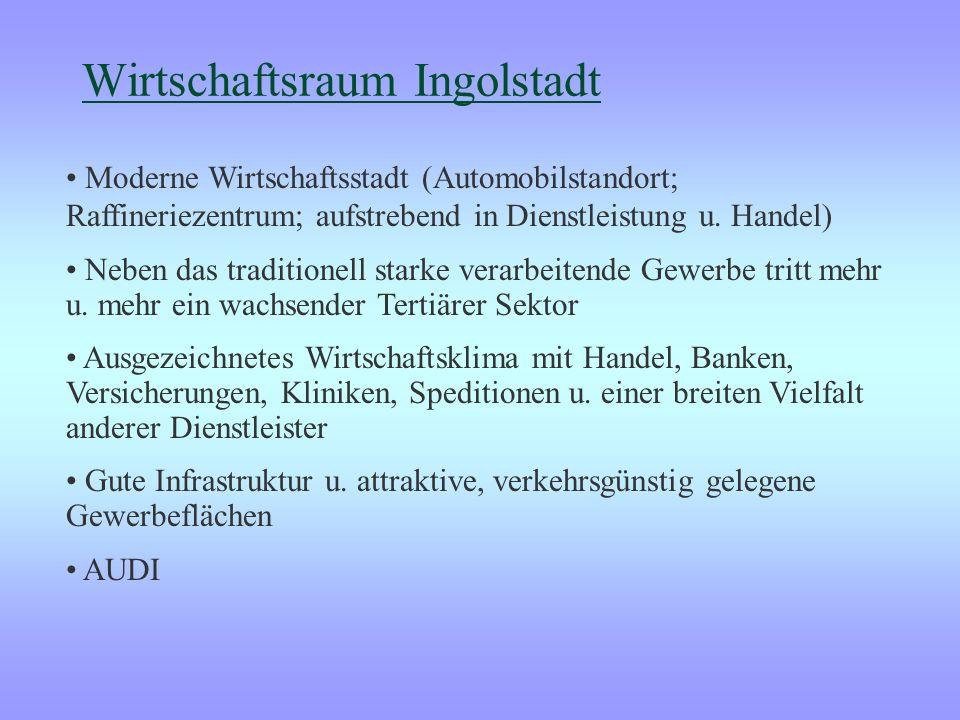 Wirtschaftsraum Regensburg: BMW Daten und Fakten: Fläche: knapp 142 ha 9000 Mitarbeiter 6000 Arbeitsplätze bei Zulieferern 40 werkseigene Buslinien Di