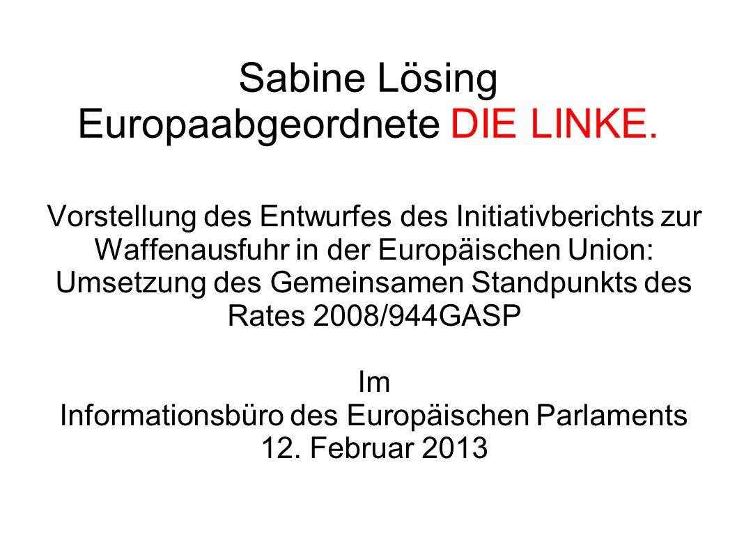 Sabine Lösing Europaabgeordnete DIE LINKE.