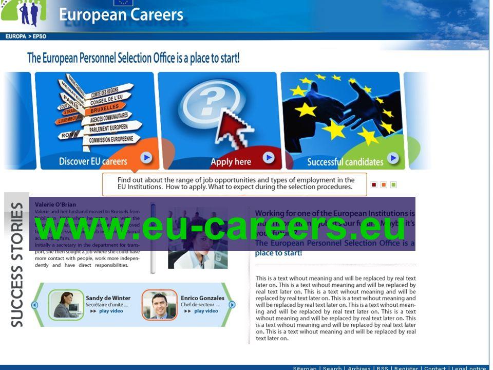 30.01.2010EPSO PRESENTATION www.eu-careers.eu