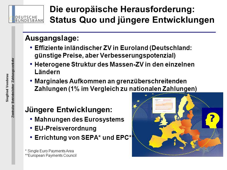 Siegfried Vonderau Zentraler Betriebsleiter Zahlungsverkehr Seite 5 04.09.02Matthias Endres * Single Euro Payments Area **European Payments Council Di
