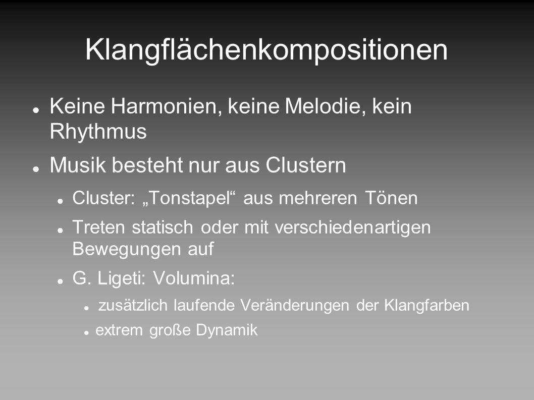 DESIGN PATTERNS IN DER MUSIK Klangflächenkompositionen Musik Harmonie- lehre Rhythmus Zwölf- tonmusik Klang- flächen