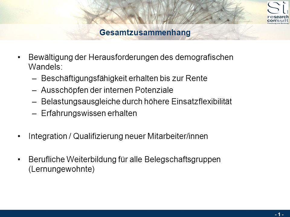 - 0 - Beteiligungsorientierte Kompetenzanalyse und Wissenstransfer im Tandem Soziale Innovation GmbH Deutsche Straße 10 44 339 Dortmund Ein Qualifizie