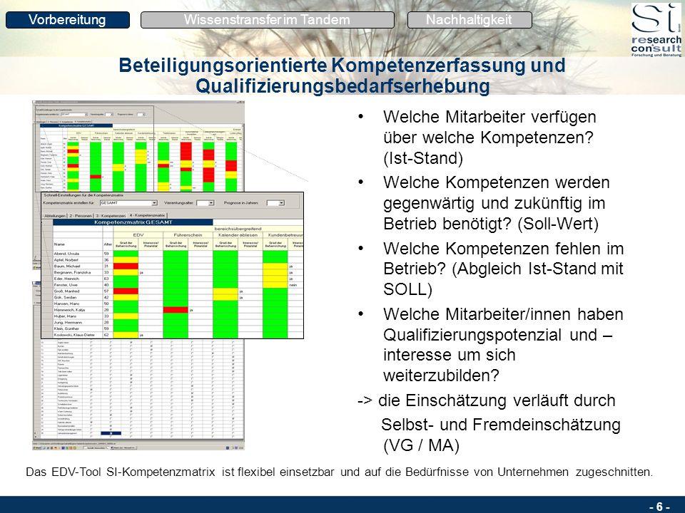 - 5 - Arbeitsplatznahe Qualifizierung: Bausteine