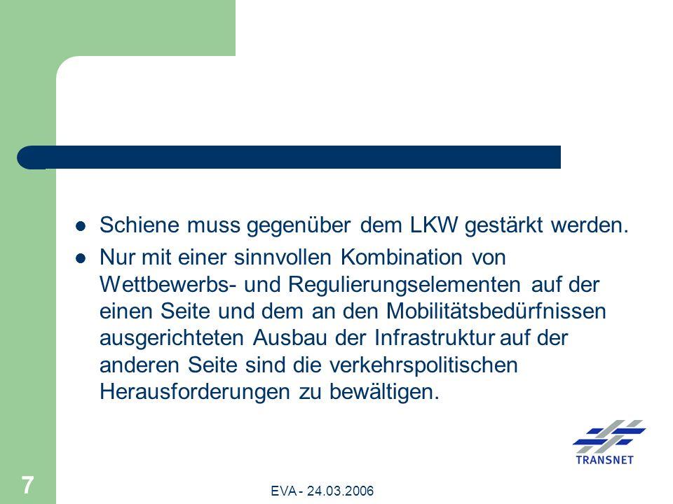 EVA - 24.03.2006 18 Eindeutiger Gewinner der europäischen Liberalisierungspolitik ist die verladende Wirtschaft.