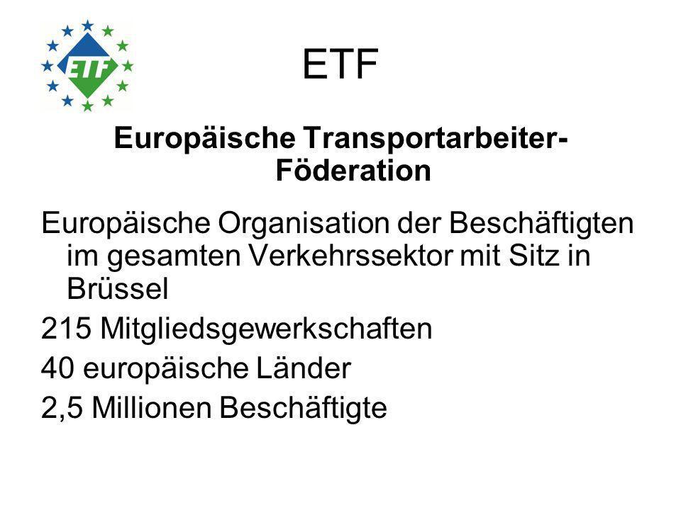 Forderungen Europäische Raumordnungspolitik, die nicht nur die transnationale Dimension sondern auch die nationale und regionale Dimension einbezieht ( Kommission: effizientere Nutzung des vorhanden Netzes und bessere Koordinierung) Soziale Folgenabschätzung wie Umweltfolgenabschätzung (soziale Kohäsion) Eigenständiges EU Finanzinstrument zur Finanzierung von Infrastruktur