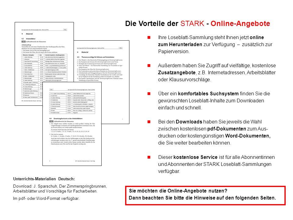 Unterrichts-Materialien Deutsch: Download: J. Sparschuh, Der Zimmerspringbrunnen, Arbeitsblätter und Vorschläge für Facharbeiten. Im pdf- oder Word-Fo