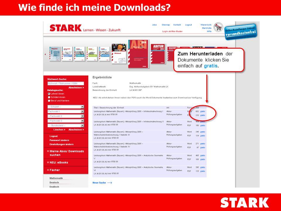 Zum Herunterladen der Dokumente klicken Sie einfach auf gratis. Wie finde ich meine Downloads?