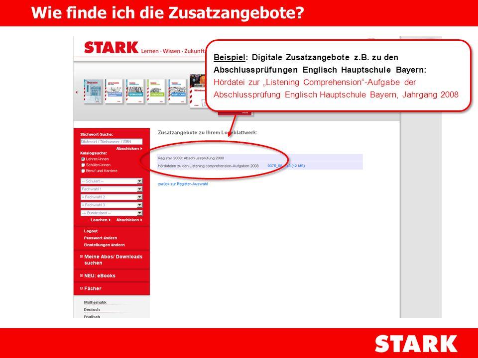 Beispiel: Digitale Zusatzangebote z.B. zu den Abschlussprüfungen Englisch Hauptschule Bayern: Hördatei zur Listening Comprehension-Aufgabe der Abschlu