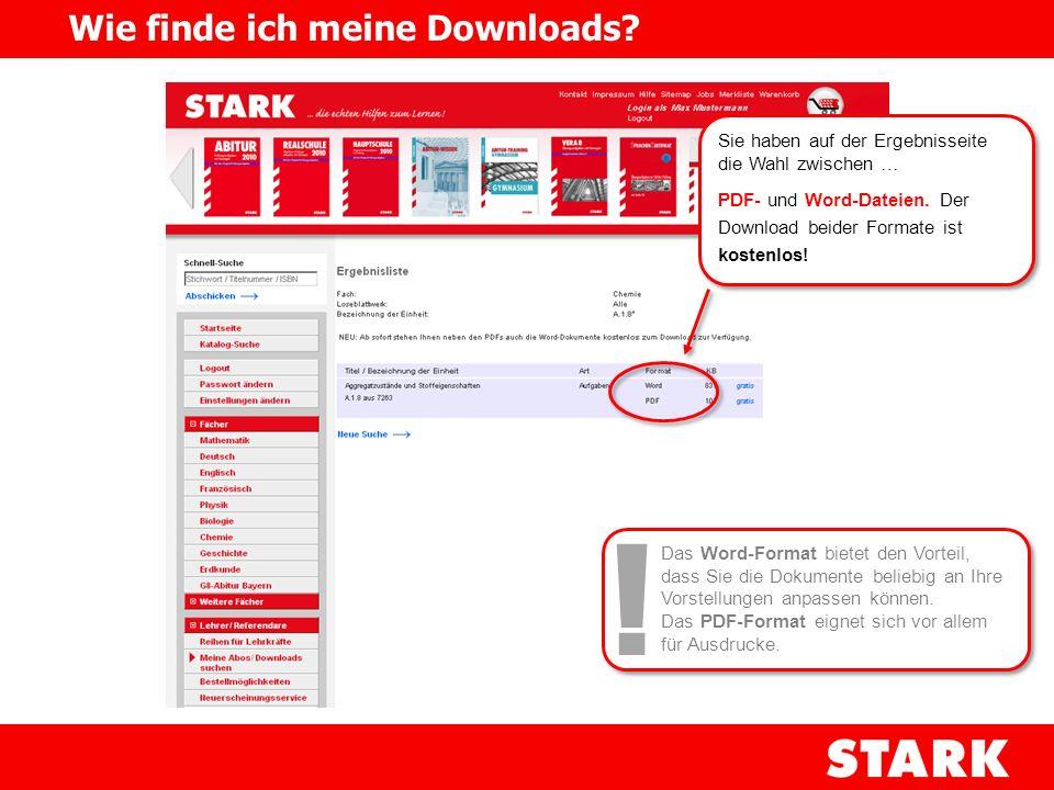 Sie haben auf der Ergebnisseite die Wahl zwischen … PDF- und Word-Dateien. Der Download beider Formate ist kostenlos! Sie haben auf der Ergebnisseite
