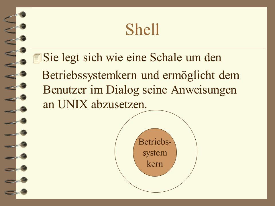 Der Mechanismus von sort, grep und find unter UNIX 4 Die drei sind alle normale, ausführbare Programme, die bestimmt zum teil sehr komplexe Funktionen realisieren und mit dem UNIX-Betriebssystem ausgeliefert.