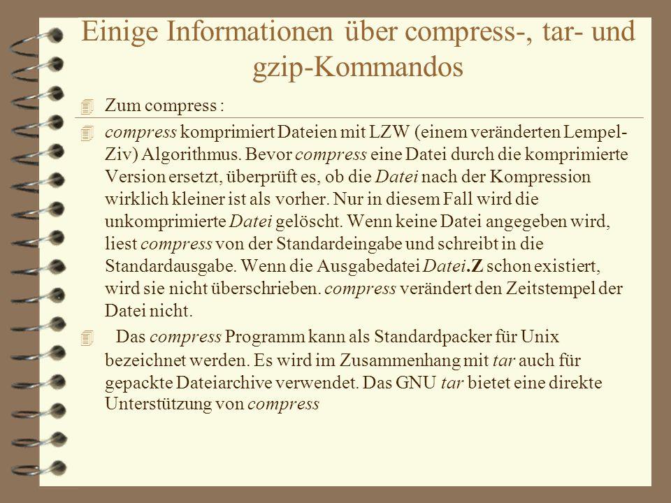 Einige Informationen über awk-, gawk-und sed-Kommandos 4 Zum awk, gawk :Der Begriff awk leitet sich aus den Namen seiner Erfinder Aho/Weinberger/Kernighan ab.