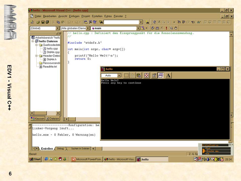 EDV1 - Visual C++ 6