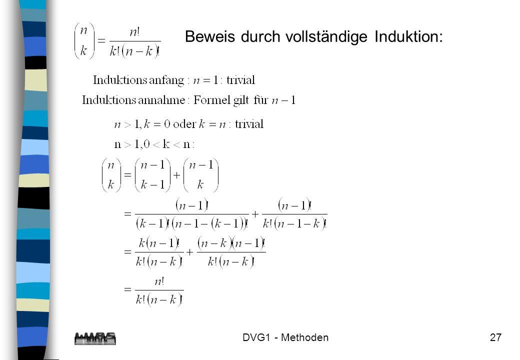 DVG1 - Methoden27 Beweis durch vollständige Induktion: