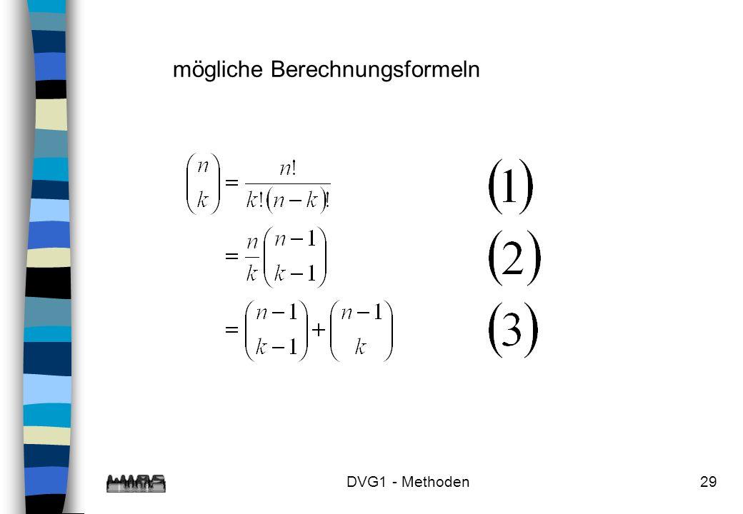 DVG1 - Methoden29 mögliche Berechnungsformeln