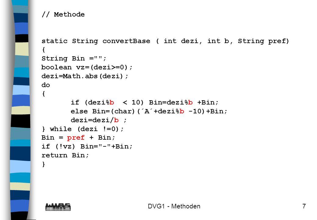 DVG1 - Methoden8 Methoden