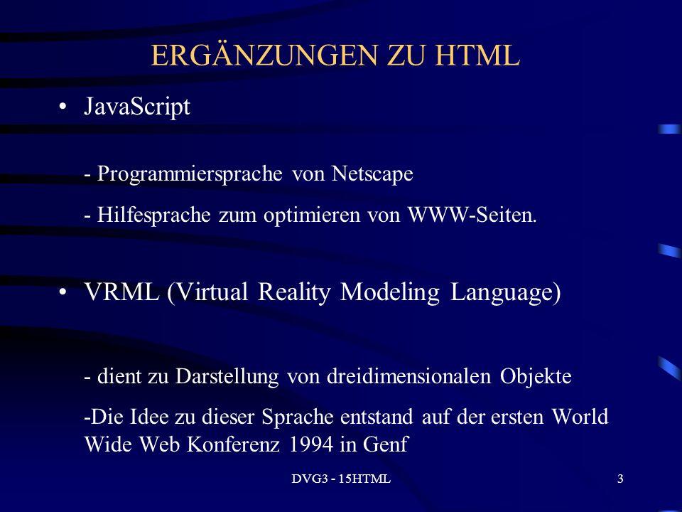 DVG3 - 15HTML24 Formulare Formular definieren...