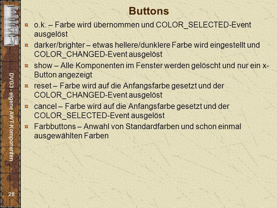 DVG3 - eigene AWT-Komponenten 28 Buttons o.k.