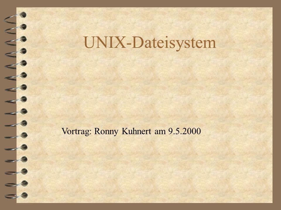 UNIX Dateiarten : Verzeichnisse : Reguläre Dateien : Verweise : Spezielle Dateien