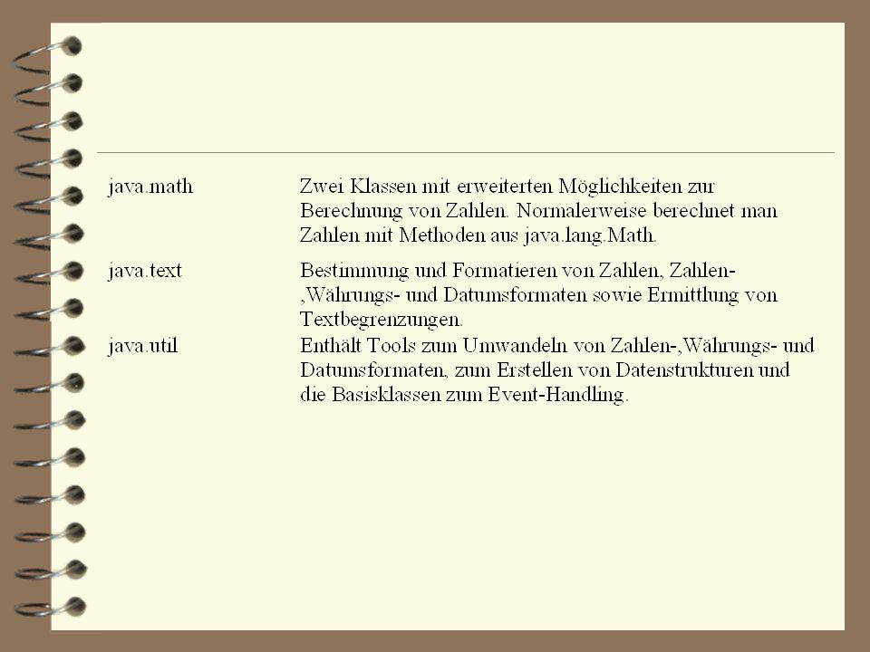 Einige Package des JDK
