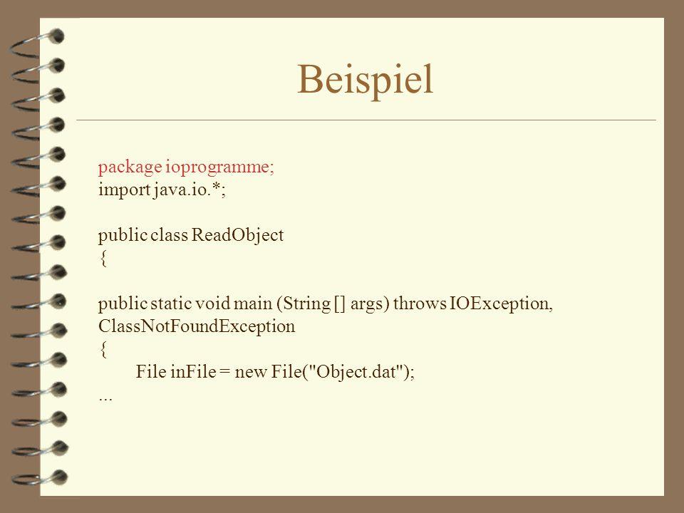 Packages compilieren Im Programm enthalten package dir1.dir2...dirn;...