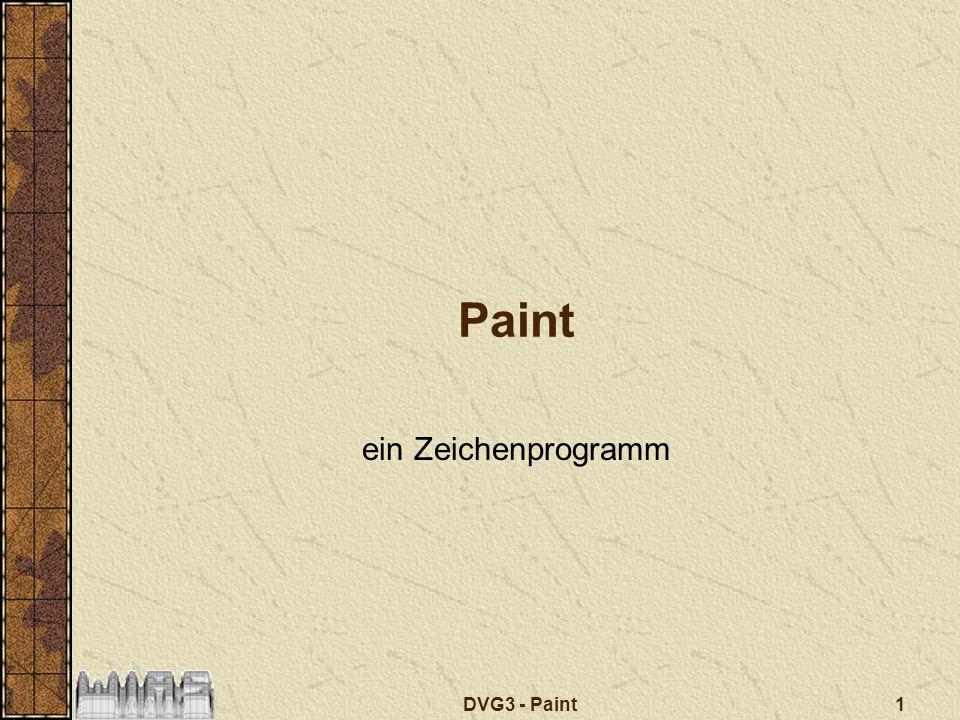 DVG3 - Paint 2 Paint – ein Zeichenprogramm