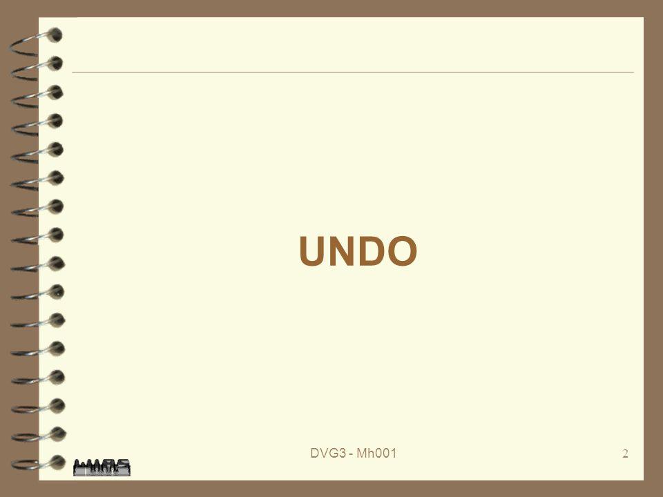 DVG3 - Mh0012 UNDO