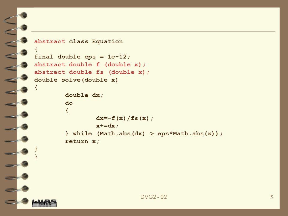 DVG2 - 026 4 Die Klasse Equation ist noch abstrakt.