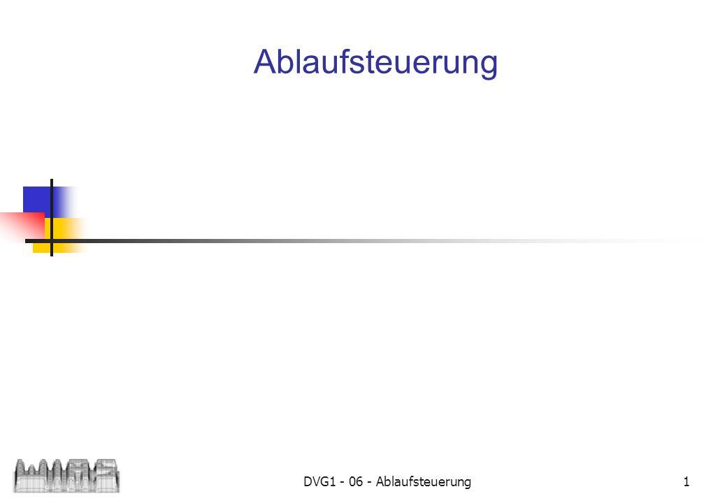 DVG1 - 06 - Ablaufsteuerung 2 if...else... if ( boolausdr ) {...
