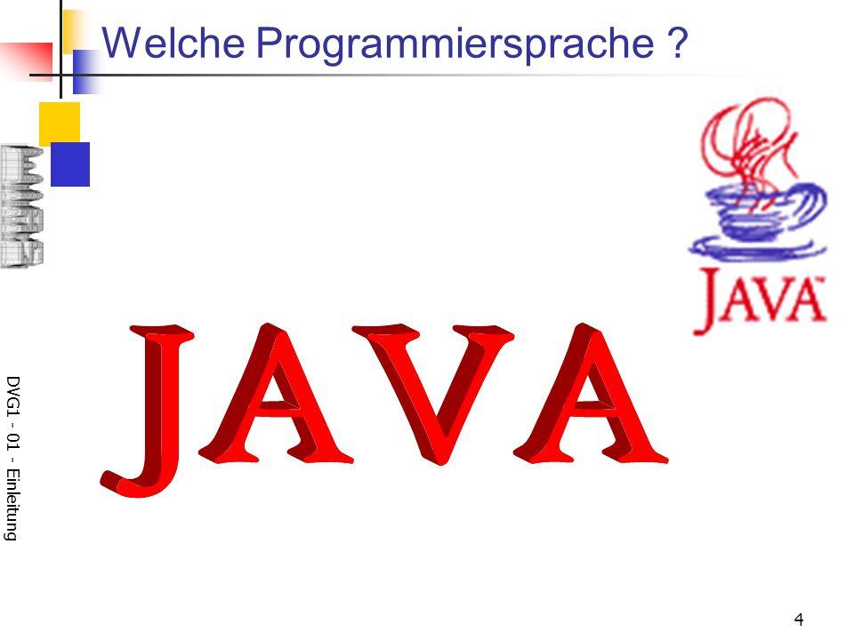 DVG1 - 01 - Einleitung 4 Welche Programmiersprache ?