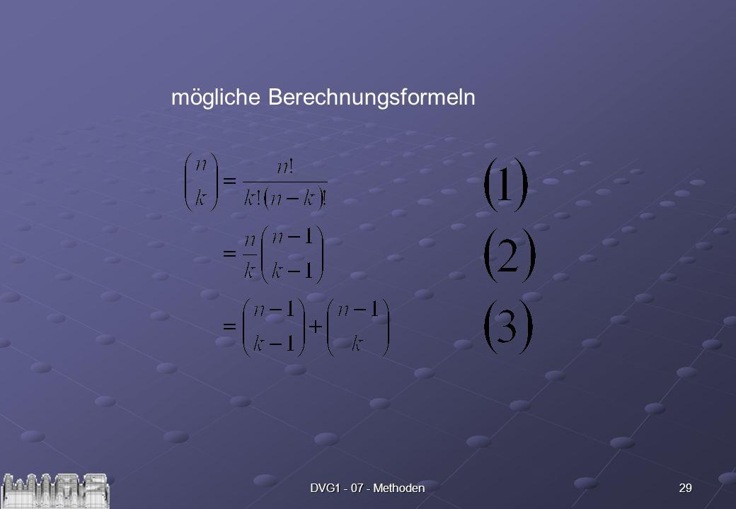 29DVG1 - 07 - Methoden mögliche Berechnungsformeln