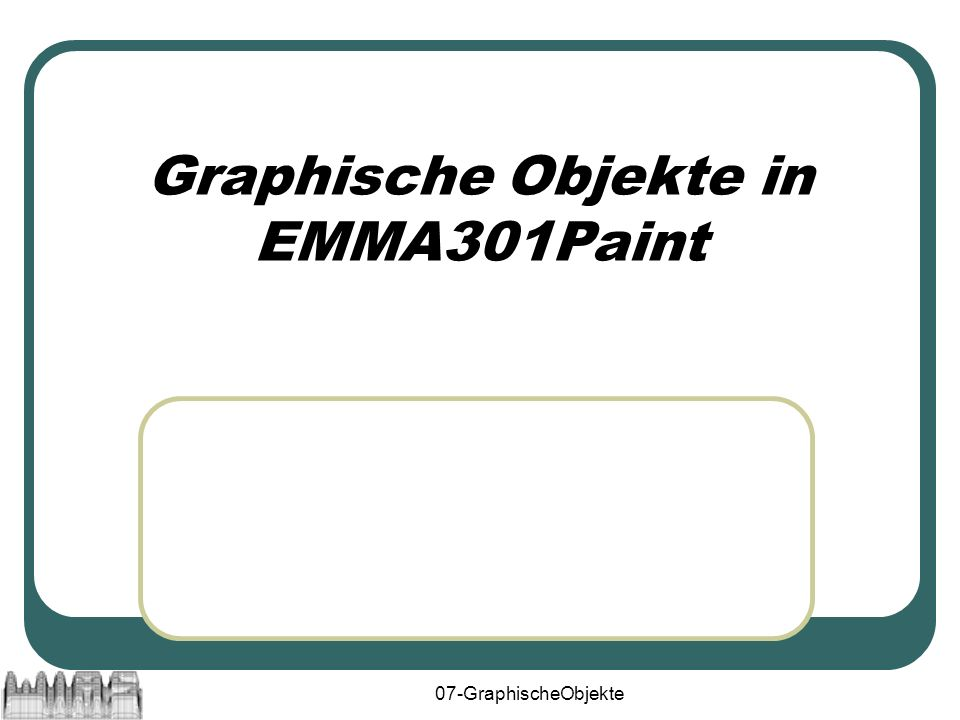 07-GraphischeObjekte12 import java.awt.Graphics2D; interface GraphicalObject { void paint(Graphics2D g); void paintRaw(Graphics2D g); void paintSelection(Graphics2D g); boolean isVisible(); void setVisible(boolean visible); boolean isSelected(); void setSelected(boolean selected); }