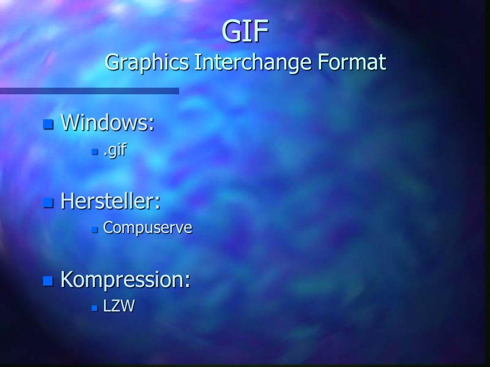 JPEG2000 n möglich: n Interlaced n ROI = Region of Interest n Kopierschutz per digitalem Wasserzeichen n nicht möglich: n Transparenz n Animationen
