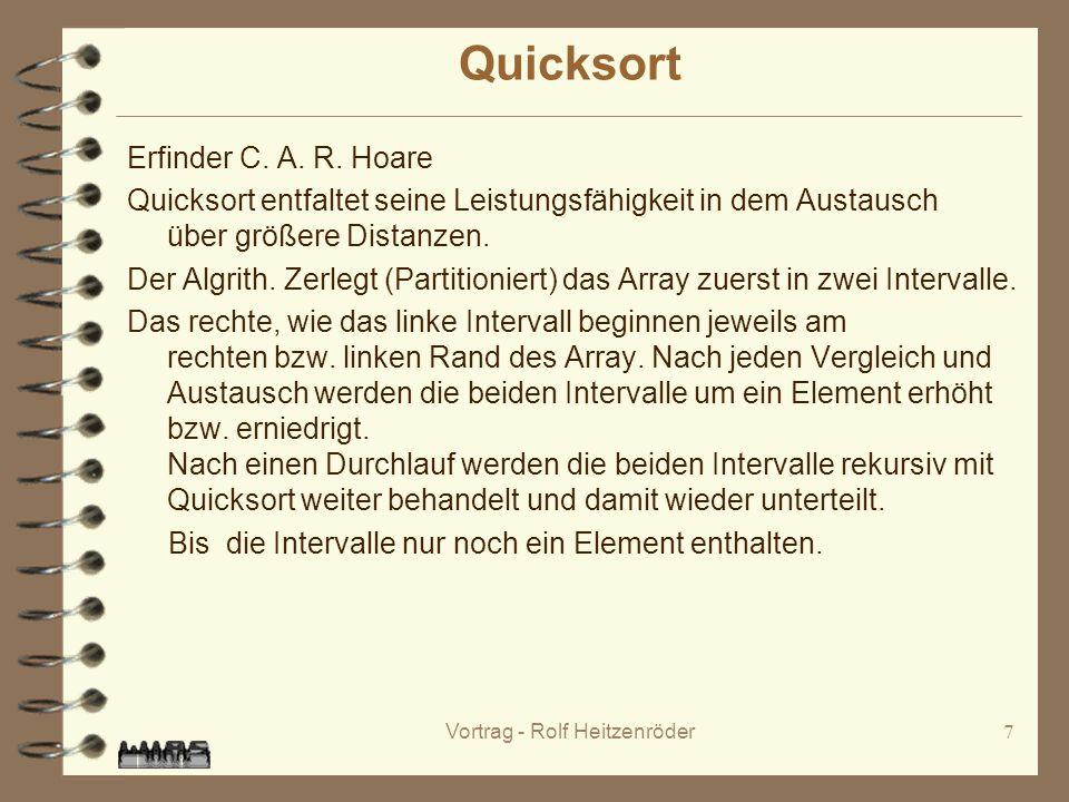 Vortrag - Rolf Heitzenröder7 Quicksort Erfinder C.