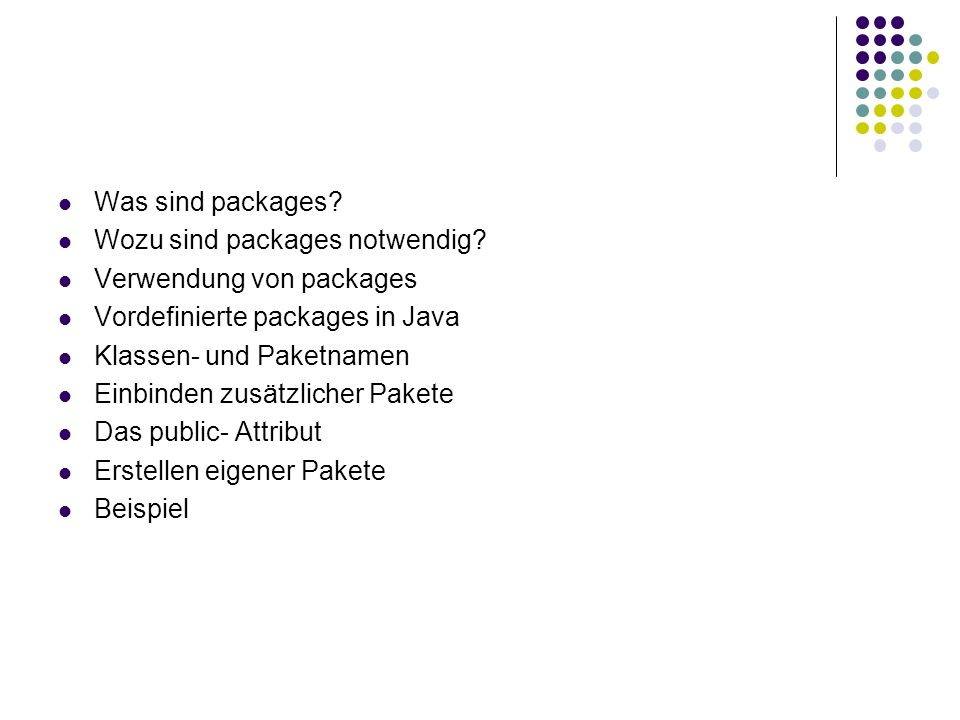 Was sind packages.