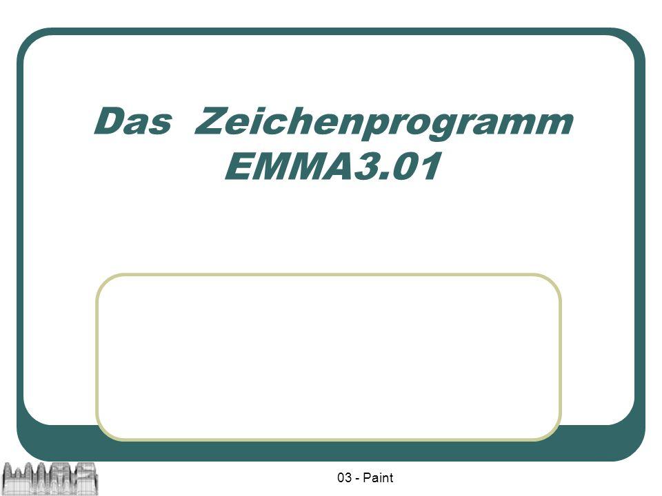 03 - Paint Das Zeichenprogramm EMMA3.01