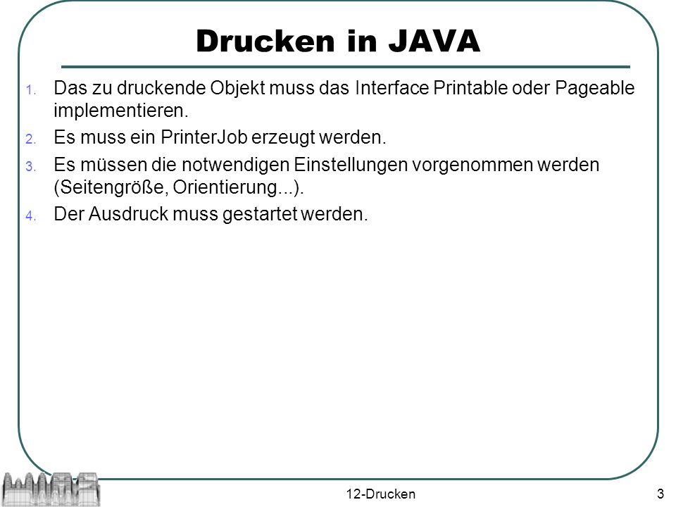 12-Drucken4 Das Interface Printable Das Interface Printable beschreibt Ausgaben, die auf einer Seite gemacht werden.