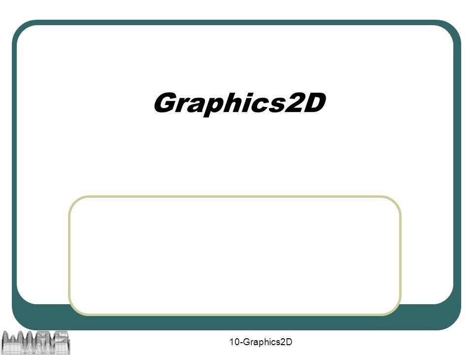 10-Graphics2D Graphics2D