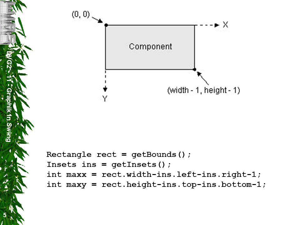 DVG2 - 11 - Graphik in Swing 6 Die Zeichnung wird am Clipping-Bereich abgeschnitten.