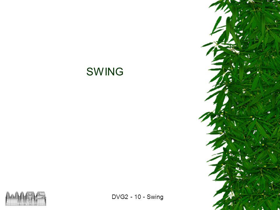DVG2 - 10 - Swing 32 Kombination von Layouts Zur Beschreibung komplizierterer Layouts können diese kombiniert werden.