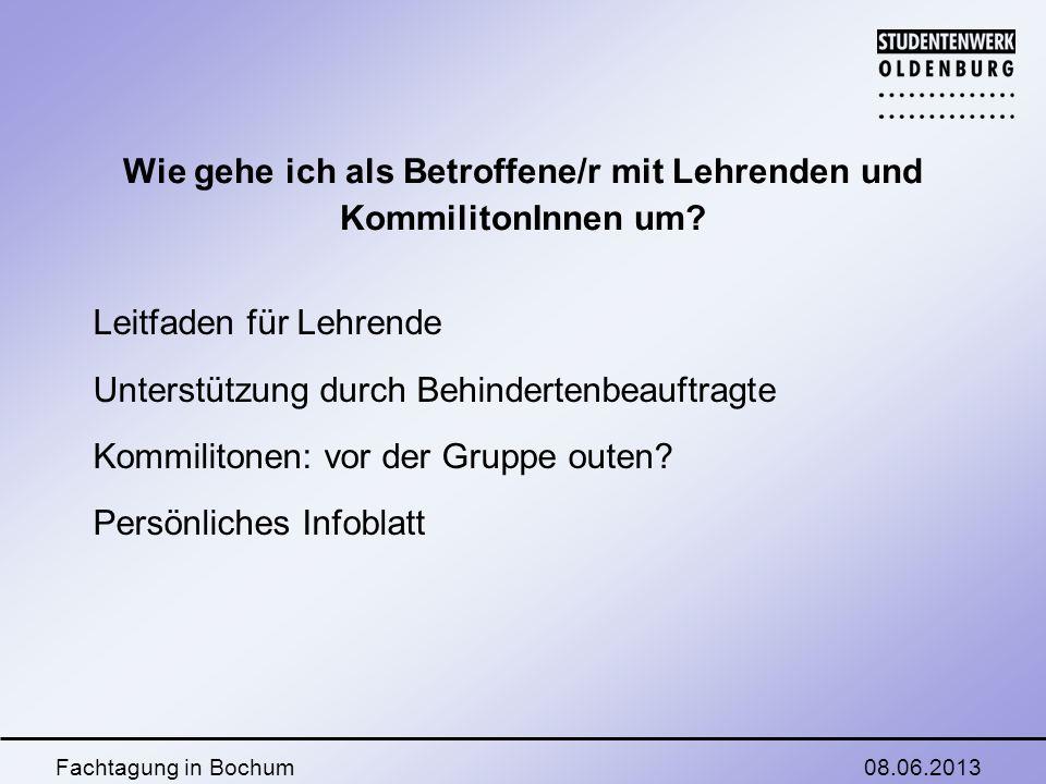 08.06.2013Fachtagung in Bochum Faktoren Person: - Selbstbewusstsein (Erfahrungen, Elternhaus, Umfeld, Integration) - Intro-/Extrovertiert - Kämpfertyp oder betüdeln lassen.