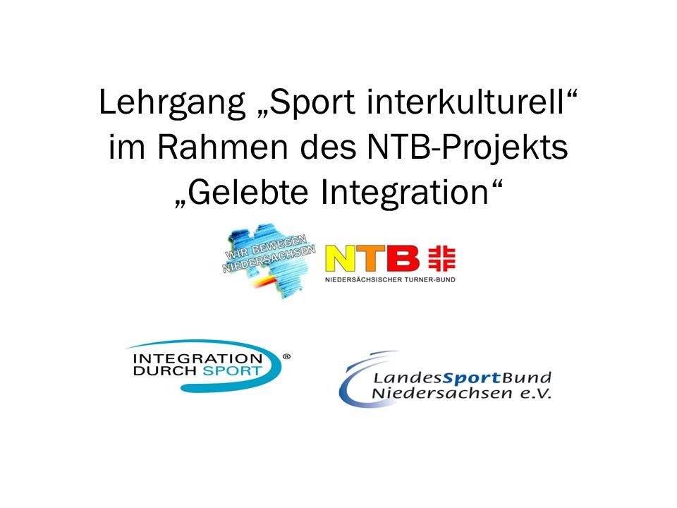 Lehrgang Sport interkulturell im Rahmen des NTB-Projekts Gelebte Integration