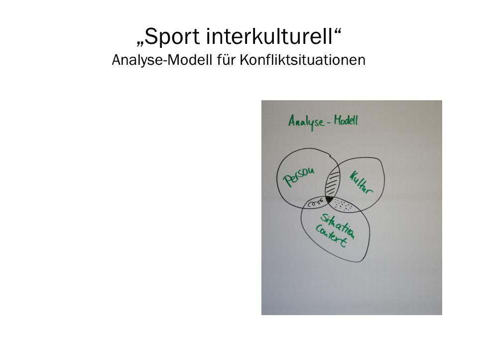 Sport interkulturell Analyse-Modell für Konfliktsituationen