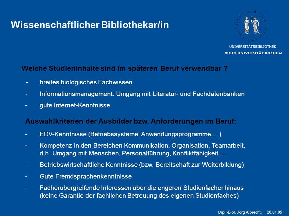 5 Wissenschaftlicher Bibliothekar/in Welche Studieninhalte sind im späteren Beruf verwendbar .