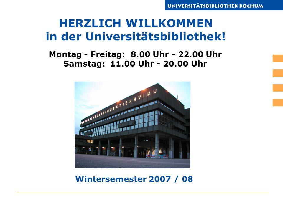HERZLICH WILLKOMMEN in der Universitätsbibliothek.