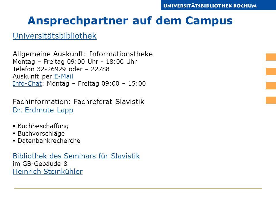 http://www.ub.rub.de/DigiBib/tutorial/slavistik.ppt Vielen DANK! Ihr Bibliotheksteam