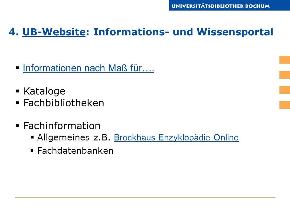 Informationen nach Maß für…. Kataloge Fachbibliotheken Fachinformation Allgemeines z.B.